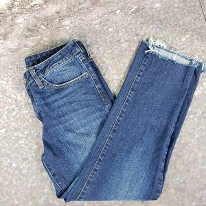Just Black Medium Wash Step Raw Hem Jeans 28